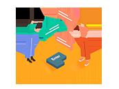 Integrierter Text-Messenger